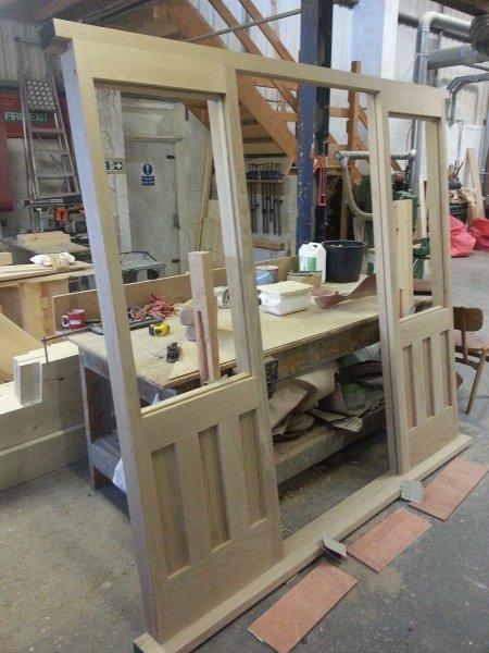 Oak Combination Door frame & Bespoke Timber Doors | Alan Grice Staircases