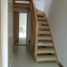 Turned Hemlock Open Tread Stair
