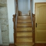Kenwood Turned Southern Yellow Pine Winder Staircase with Oak Bottom Posts